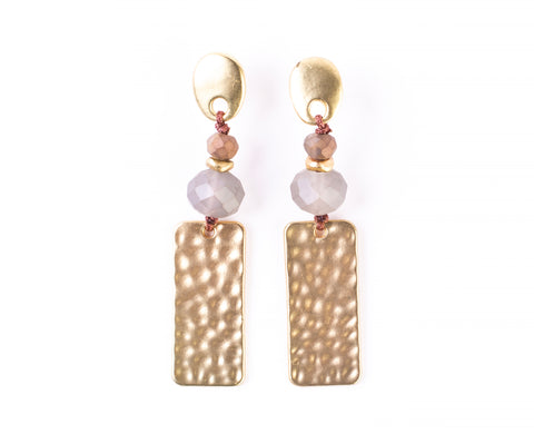 Anna Rectangle Bar Drop Earrings