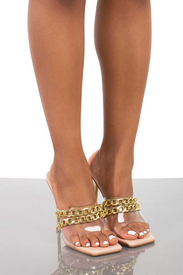 Fund Chain Link Mule- Nude