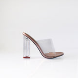 Fusion Clear Open Toe Mules