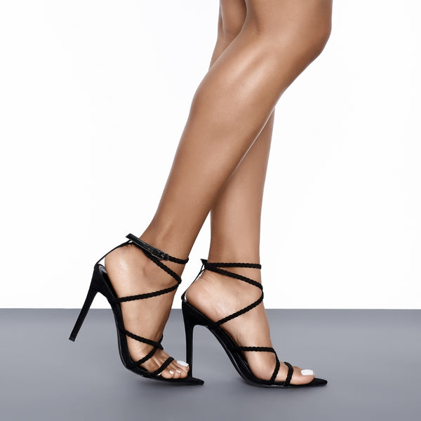 Angela Single Sole Heel (Black)