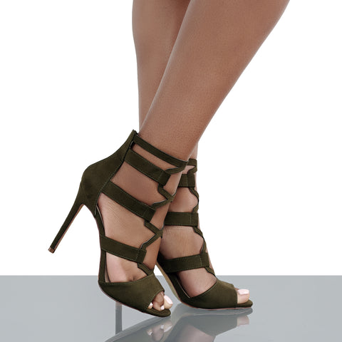 Deena Cut Out Heel (Olive)