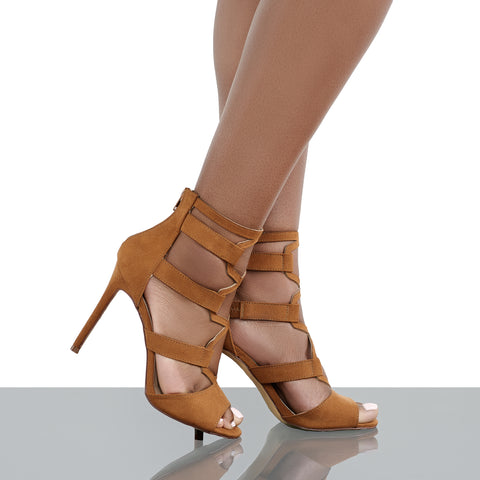 Deena Cut Out Heel (Tan)