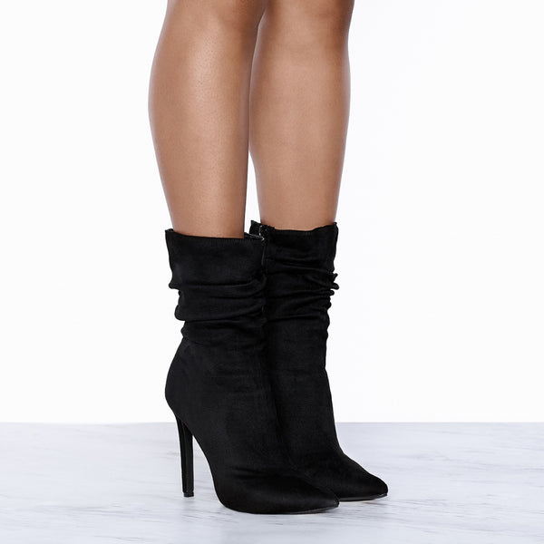 Liana Slouched Bootie (Black)