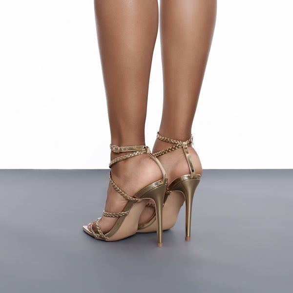 Angela Single Sole Heel (Gold)