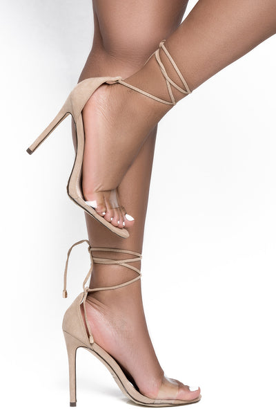Roma Ankle Lace Up Heel (Nude)