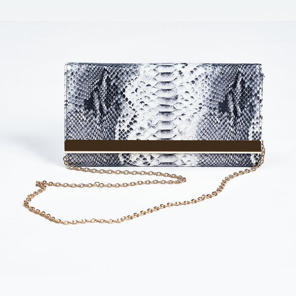 Hayley Snake Print Clutch Bag