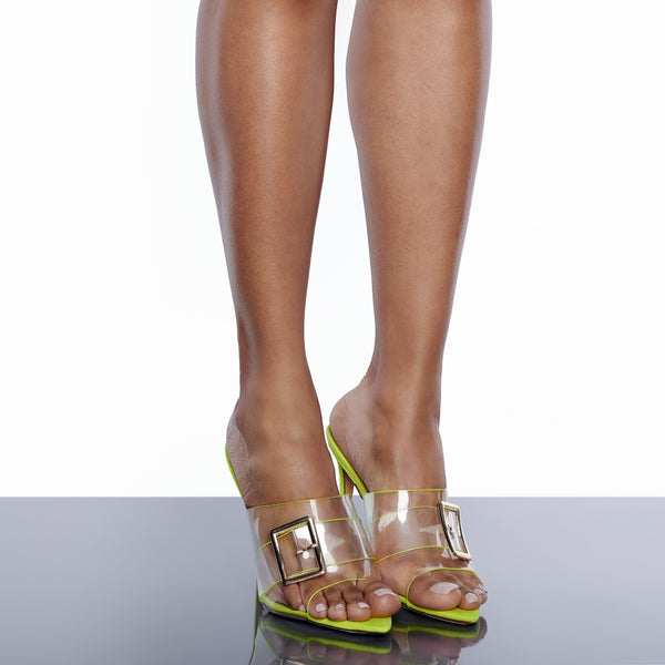 Nervada Clear Mule Sandal (Yellow)