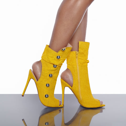 Darcey Denim Bootie (Yellow)