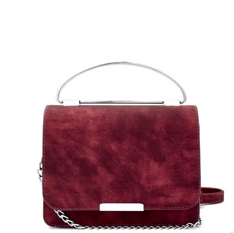 Lia Crossbody Bag (Wine)-Final Sale