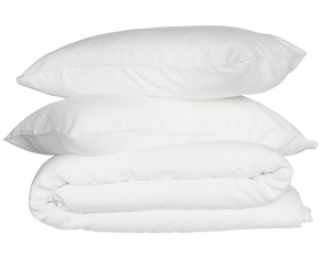 French Linen Quilt Cover Set - White
