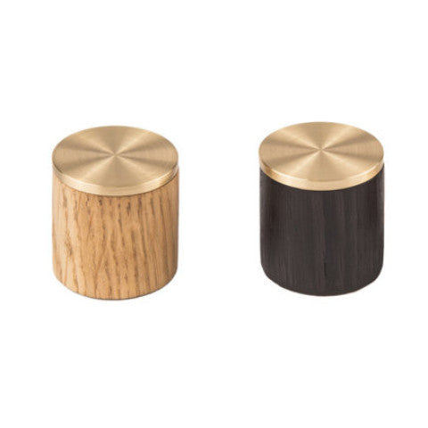 Tipped Pulls - Black Stained Oak / Brushed Brass