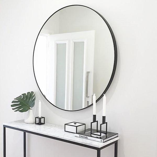Middle Of Nowhere Flynn Round Mirror Black Design Twins