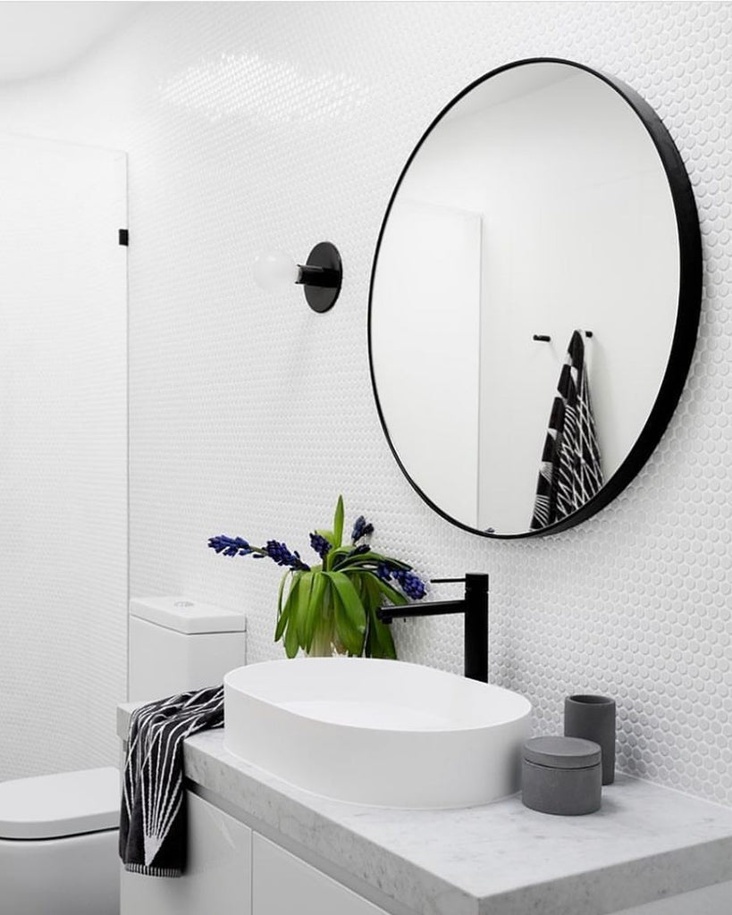 Mirrors with shelves for the bathroom