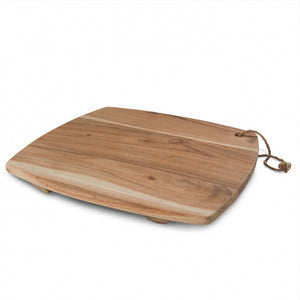Acacia Wood Square Board w/Feet medium