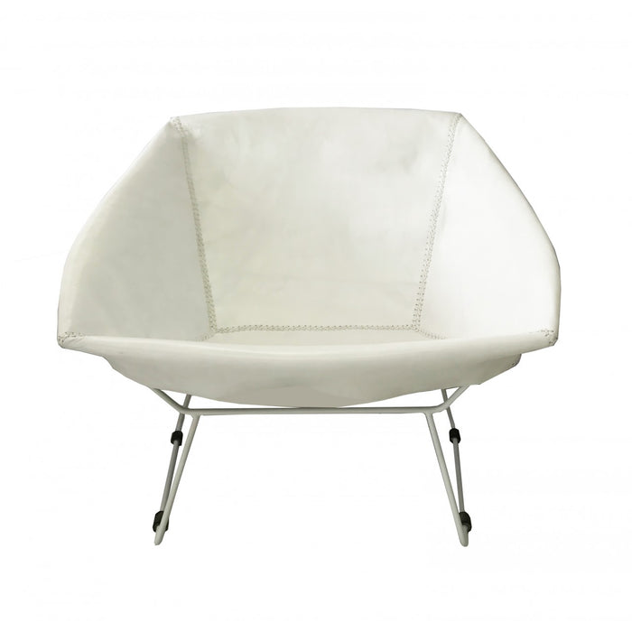 Saul Chair White Leather