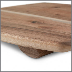 Acacia Wood Square Board w/Feet large