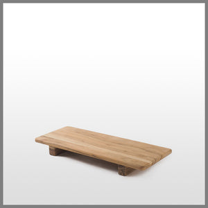 Acacia Wood Rectangle Board w/Feet small