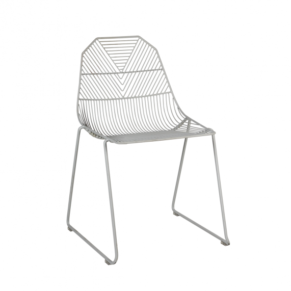 Arrow Chair (Stacking Sled) - Matte Grey