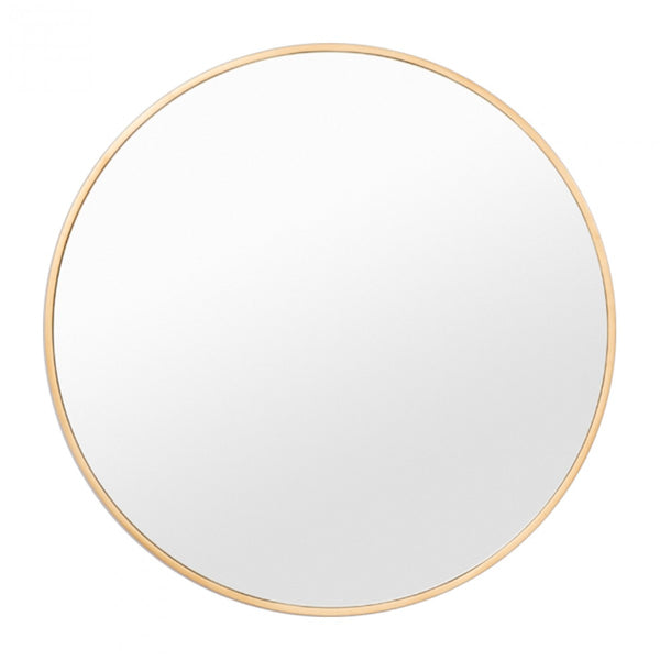 Bella Round Mirror - Brass