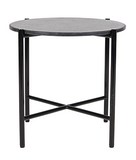 Bijoux Terrazzo Round Side Table - Licorice