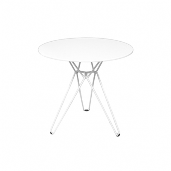 Linear Cafe table - Satin White