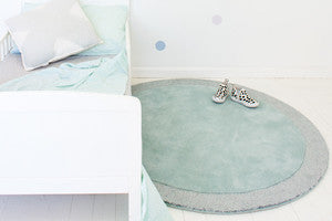 SILVER MOON ROUND RUG - ICY BLUE