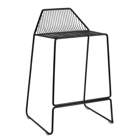 Linear Bar Stool - Matte Black