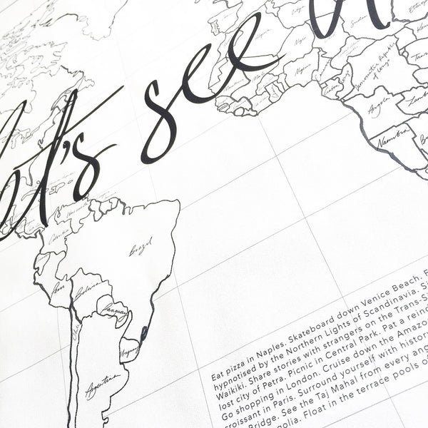 Axel & Ash Lets see it all World Map | Design Twins