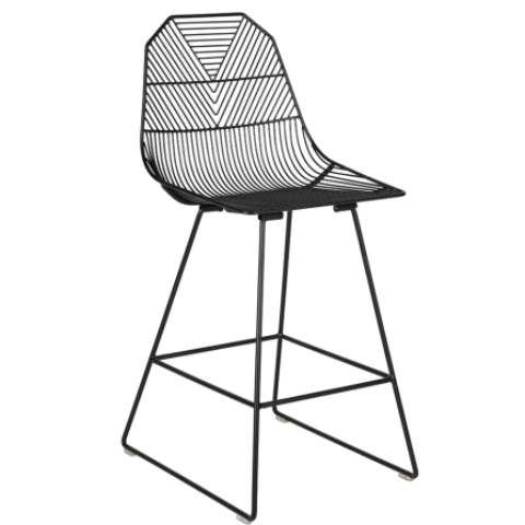 Arrow Bar Stool - Matte Black