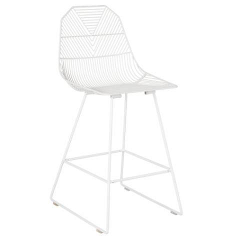 Arrow Bar Stool - Matte White