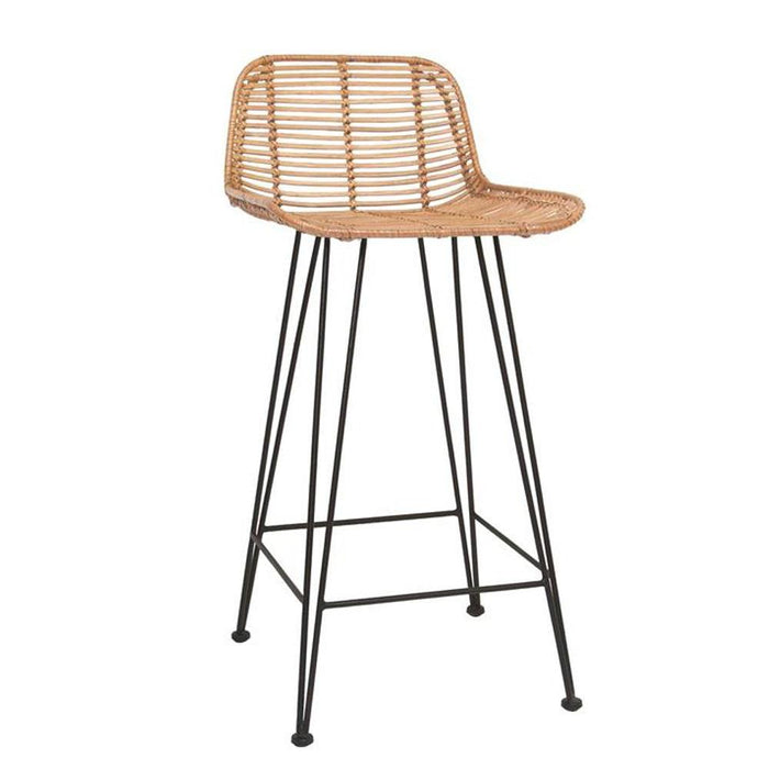 Rattan Bar Stool - Natural
