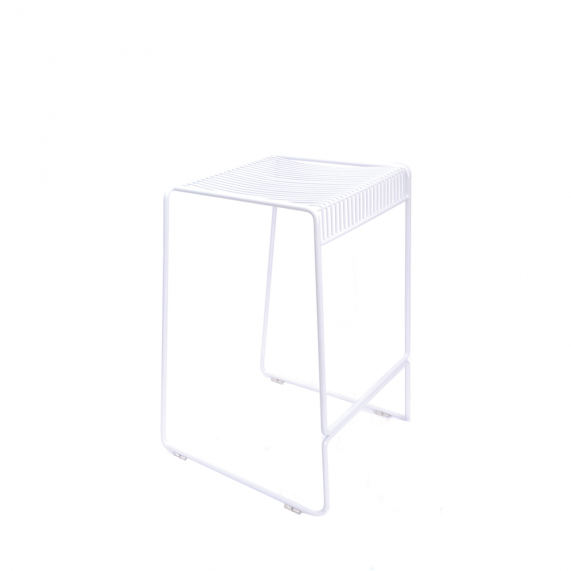 Simple Bar Stool - Gloss White