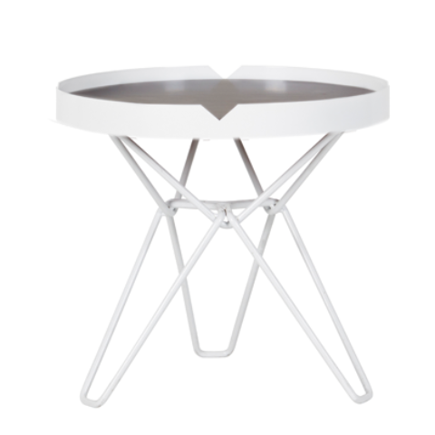 Spice Side Table - White