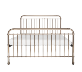 EDEN ROSE GOLD METAL BED - KING