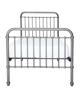 LOUIS GUNMETAL BED - SINGLE