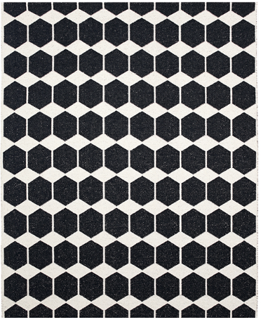ANNA RUG - BLACK ( INDOOR / OUTDOOR )