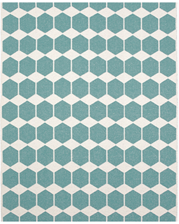 ANNA RUG - AQUA INDOOR/ OUTDOOR