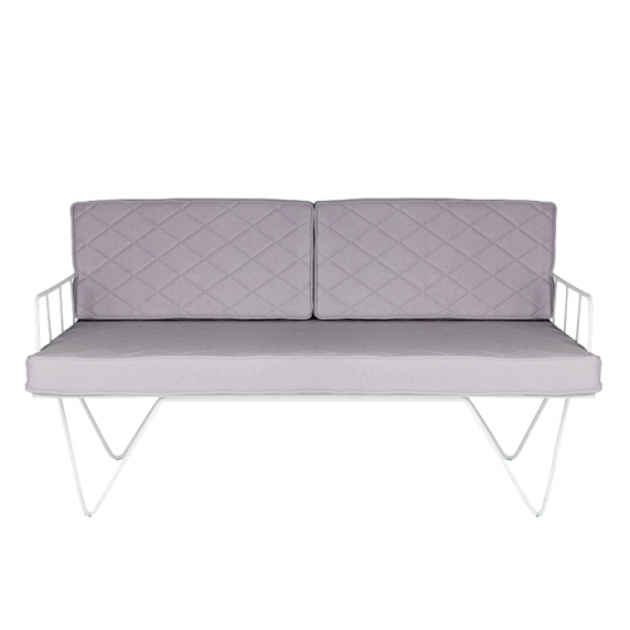 Loop Two Seater Sofa - Light Grey
