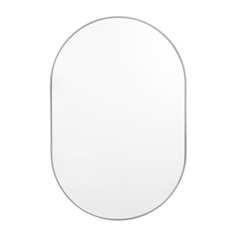 Bjorn Oval Small Mirror - Dove Grey
