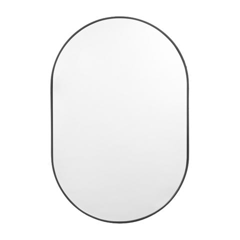 Bjorn Oval Mirror Small - Black