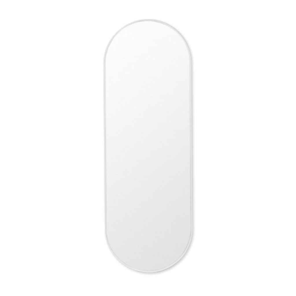 Bjorn Oval Mirror Large - Bright White