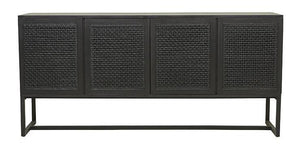 Willow Woven Buffet - Ebony