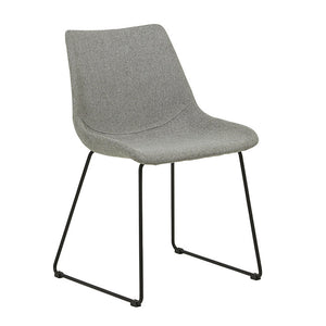 Arnold Dining Chair - Grey Speckle / Black