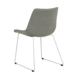 Arnold Dining Chair - Grey Speckle / White