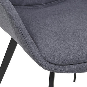 Calvin Arm Dining Chair - Gunmetal