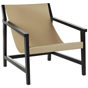 Como Sling Occasional Chair - Taupe / Black