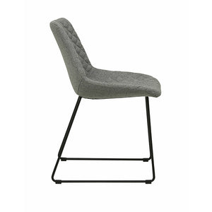 Henri Dining Chair - Grey Speckle / Black