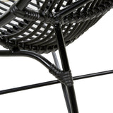 Maldives Low Occasional Chair - Black
