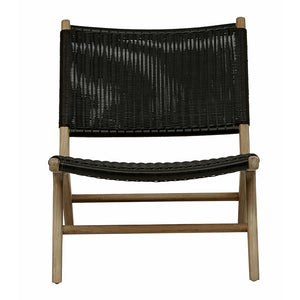 Noosa Open Occasional Chair - Black (OUTDOOR)