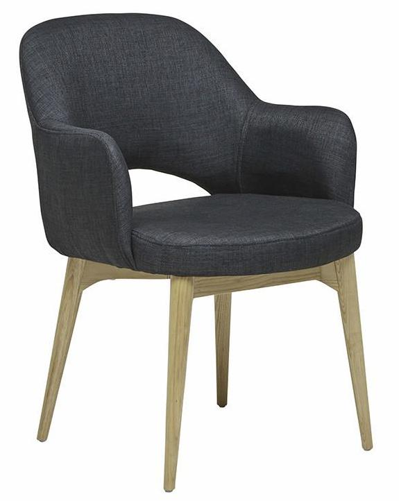 Oscar Timber Leg Arm Chair - Soot / Natural Ash